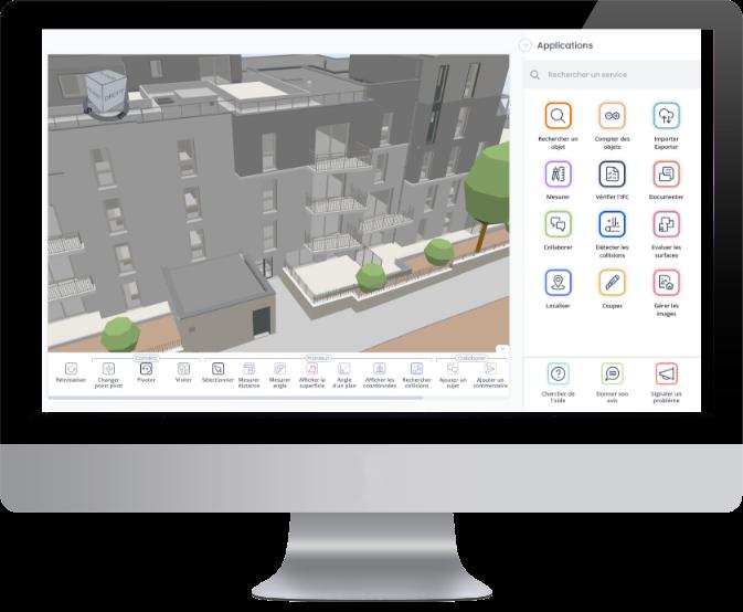Viewer 3D bâtiment